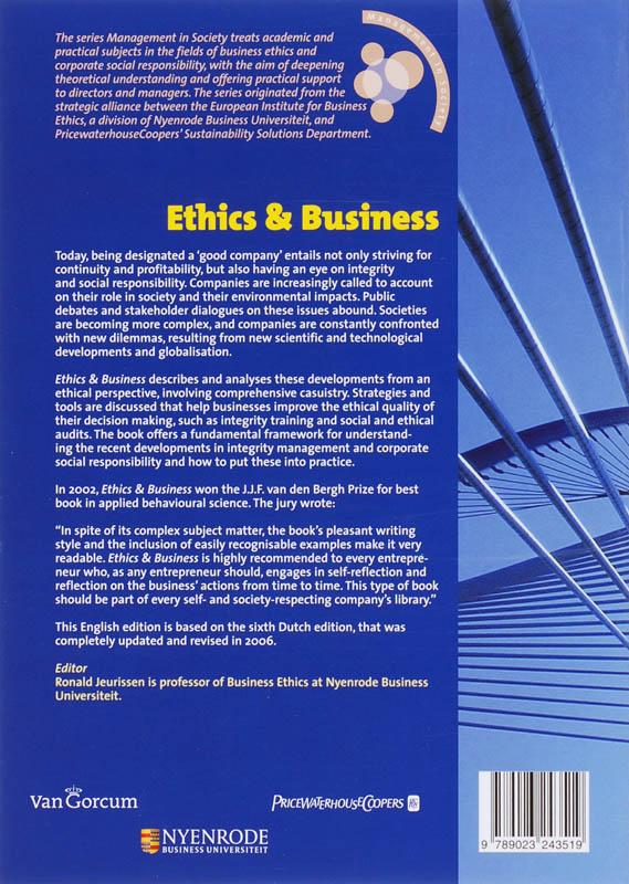 Ethics & Business van D  Jeurissen 1 x nieuw te koop - omero nl