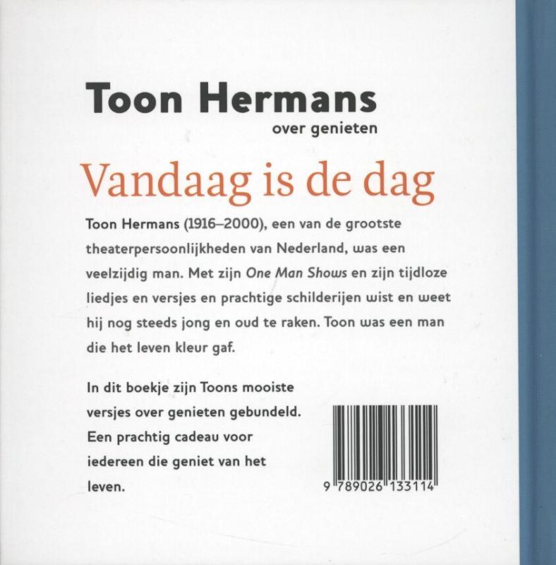 Hedendaags Vandaag Is De Dag van Toon Hermans,toon Hermans 25 x tweedehands NF-13